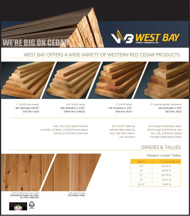 Cedar | OrePac Building Products